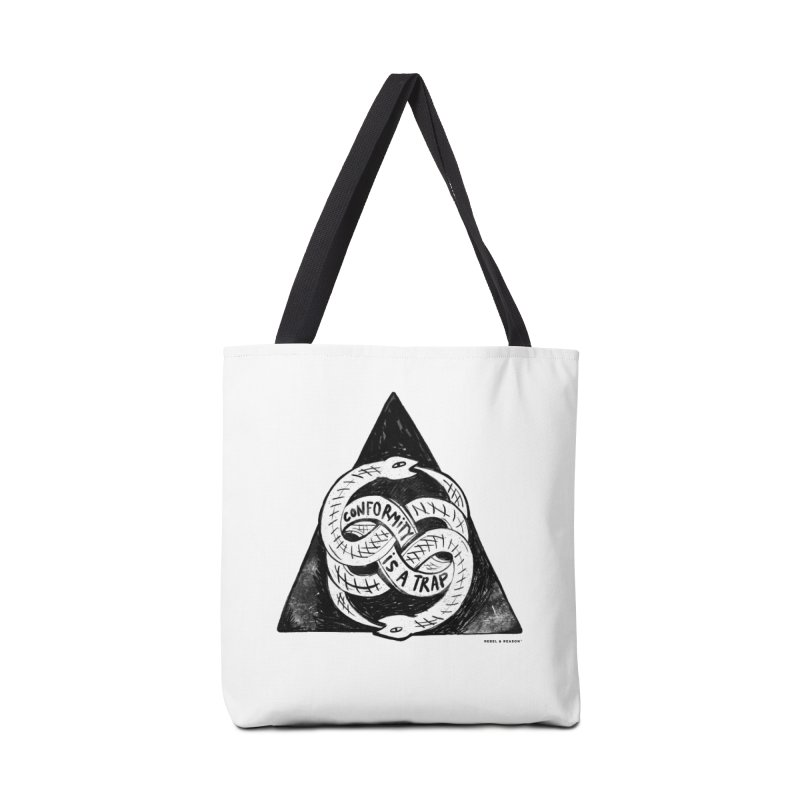 Conformity Is A Trap (Snake Edition) in Tote Bag by Rebel & Reason