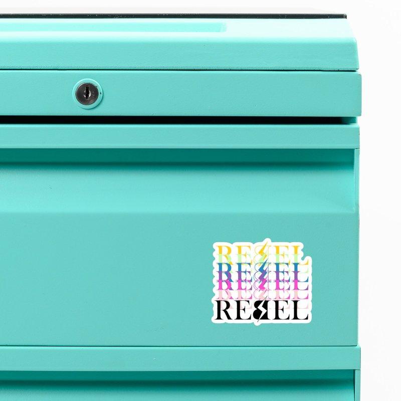 Rainbow Rebel Accessories Magnet by Rebel Hair Studio Merch