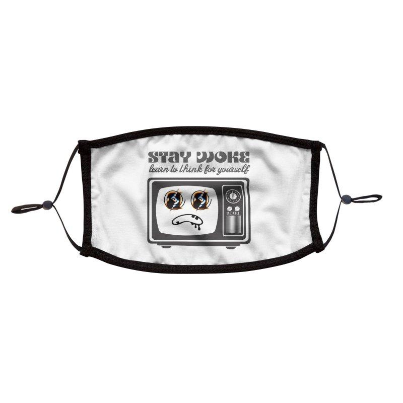 Stay Woke Accessories Face Mask by Rebel Hair Studio Merch
