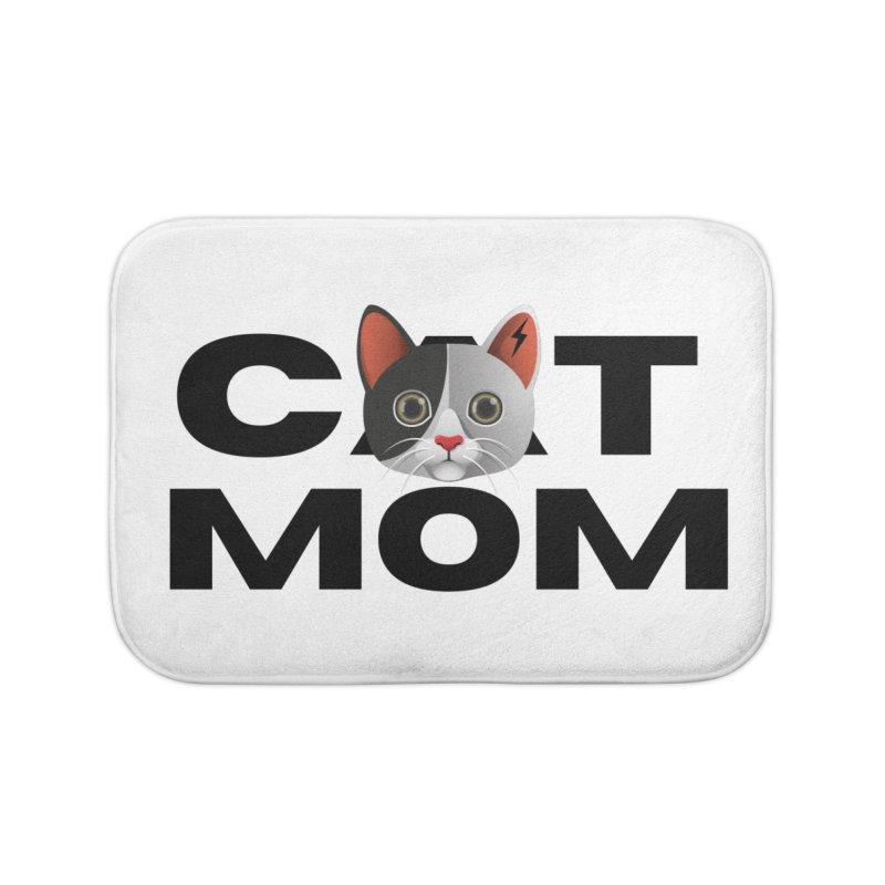 CAT MOM Home Bath Mat by Rebel Hair Studio Merch