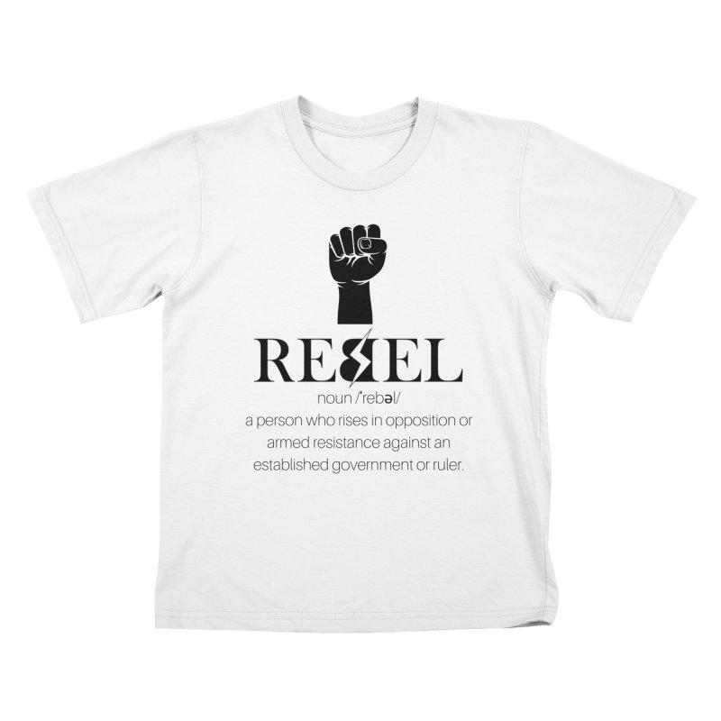 Rebel, Noun Kids T-Shirt by Rebel Hair Studio Merch