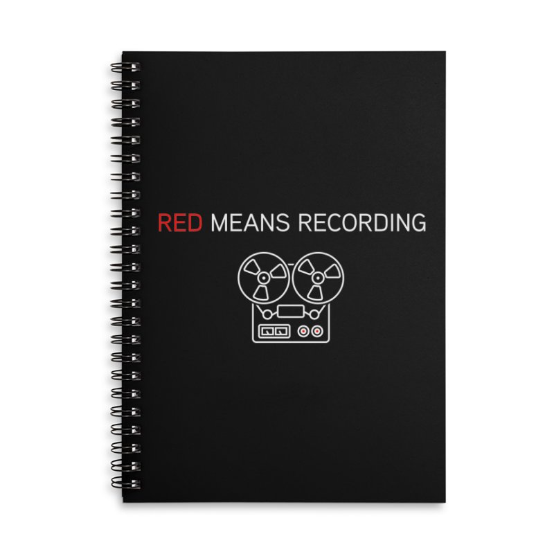 Reel to Reel Accessories Lined Spiral Notebook by Red Means Recording