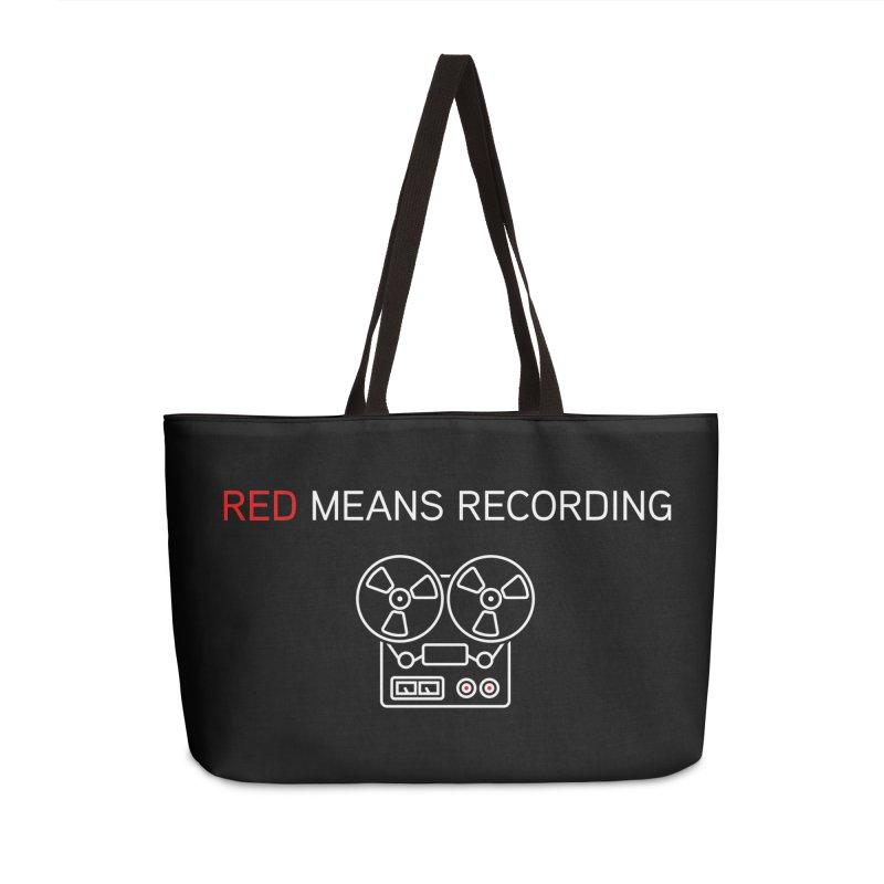 Reel to Reel Accessories Weekender Bag Bag by Red Means Recording