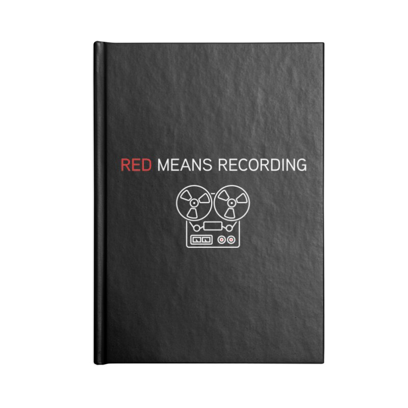 Reel to Reel Accessories Notebook by Red Means Recording