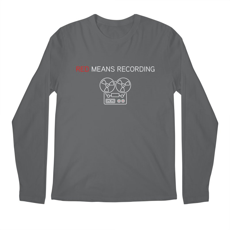 Reel to Reel Men's Regular Longsleeve T-Shirt by Red Means Recording