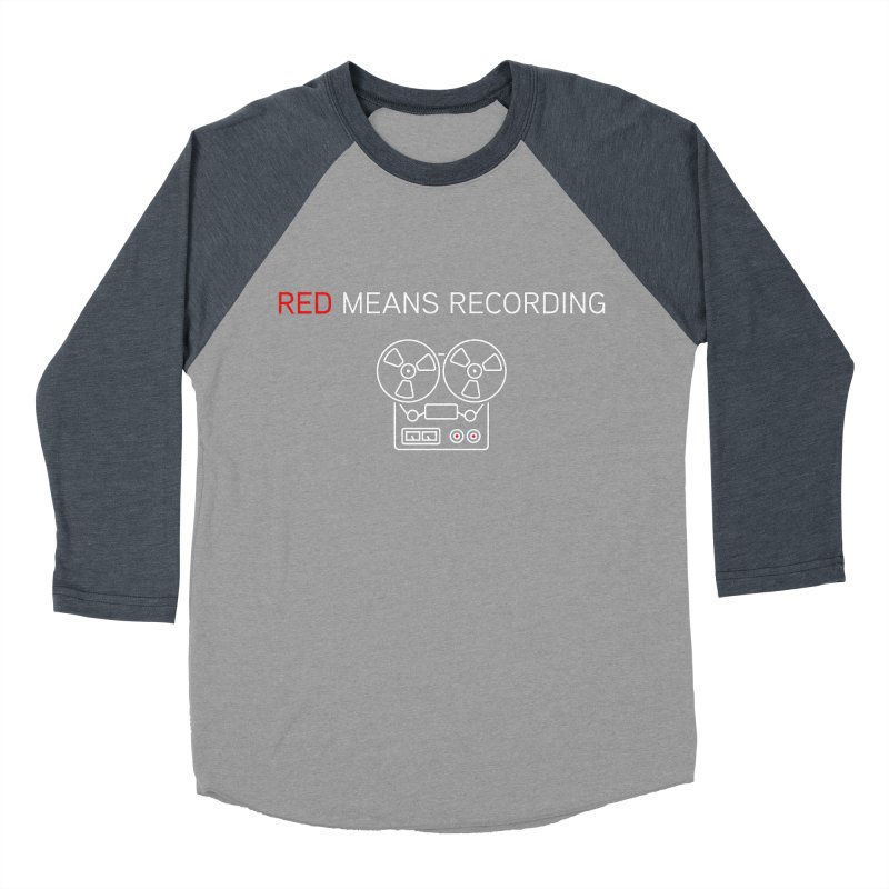 Reel to Reel Men's Baseball Triblend Longsleeve T-Shirt by Red Means Recording