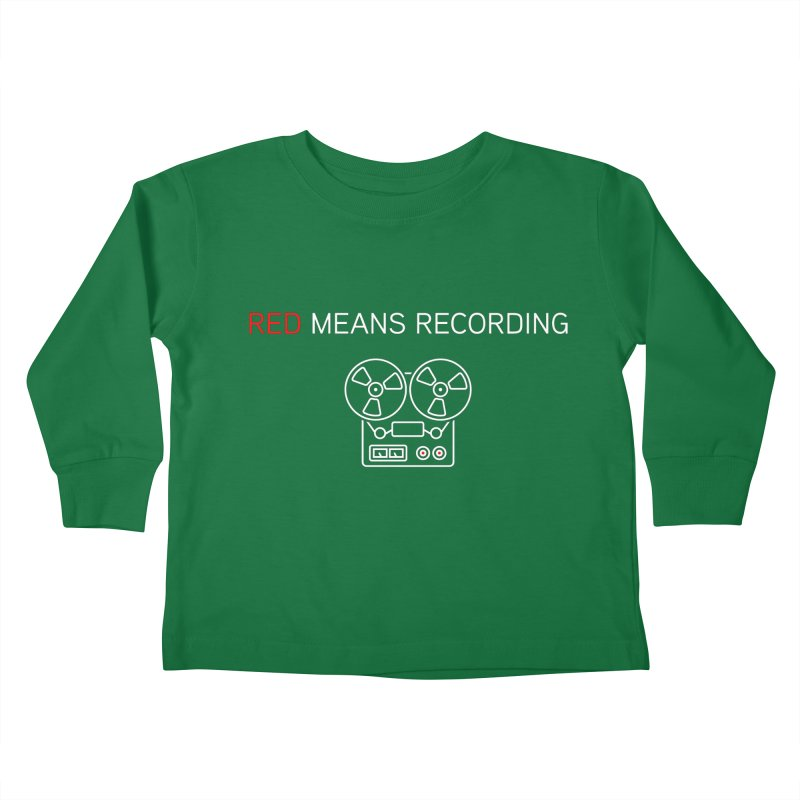Reel to Reel Kids Toddler Longsleeve T-Shirt by Red Means Recording