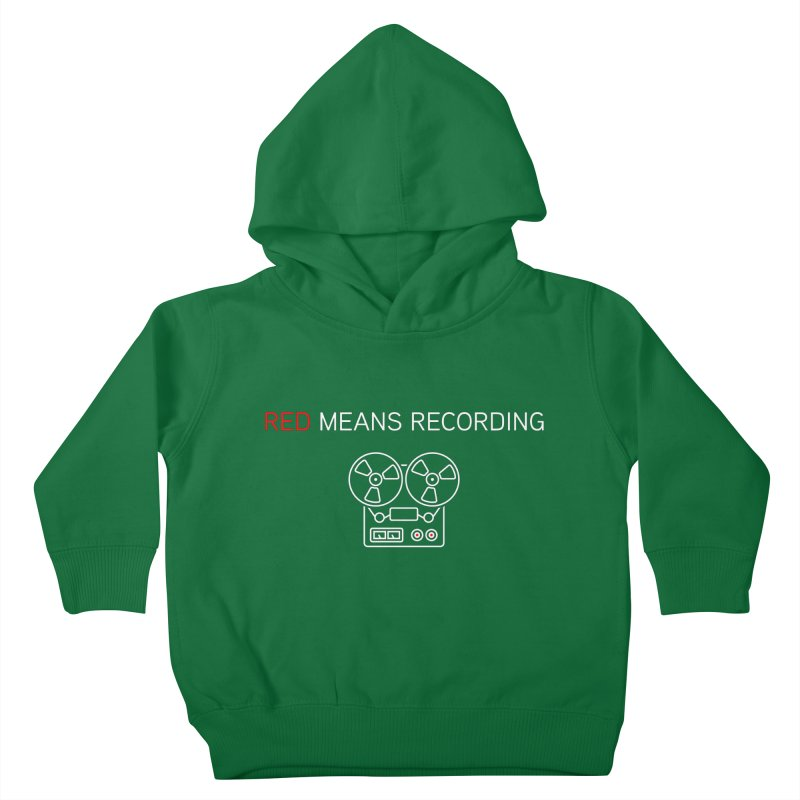 Reel to Reel Kids Toddler Pullover Hoody by Red Means Recording