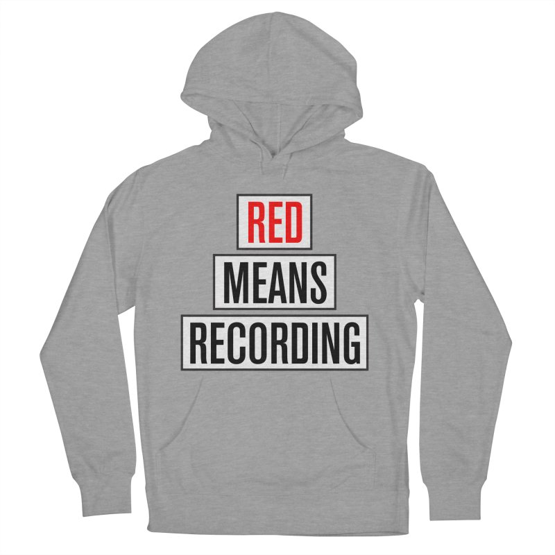 WOW BIG FONT Men's French Terry Pullover Hoody by Red Means Recording