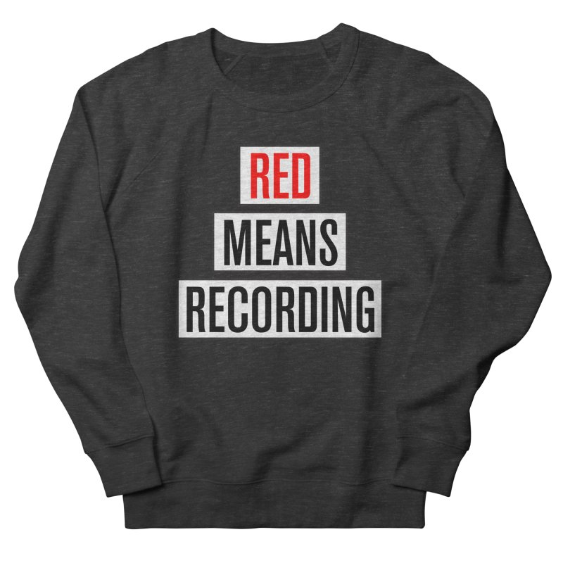 WOW BIG FONT Men's French Terry Sweatshirt by Red Means Recording