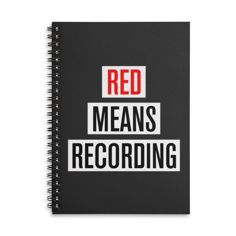 WOW BIG FONT Accessories Lined Spiral Notebook by Red Means Recording