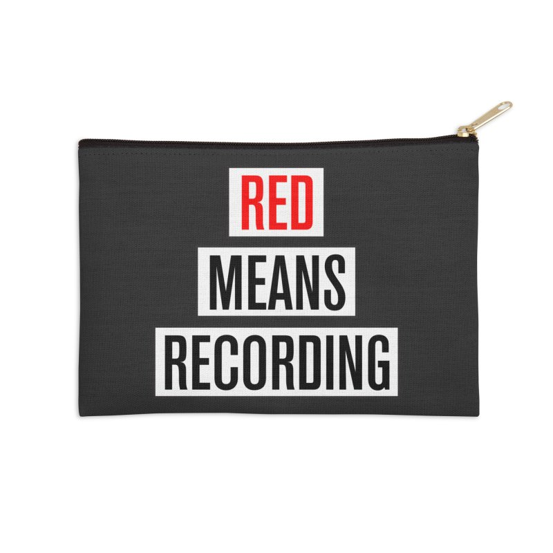 WOW BIG FONT Accessories Zip Pouch by Red Means Recording