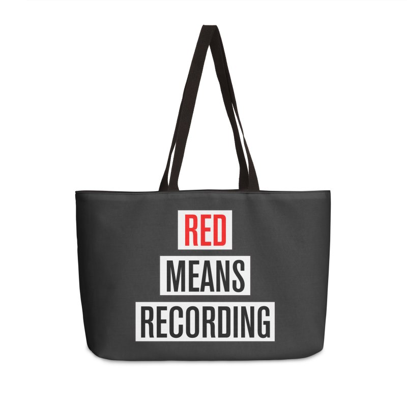 WOW BIG FONT Accessories Weekender Bag Bag by Red Means Recording