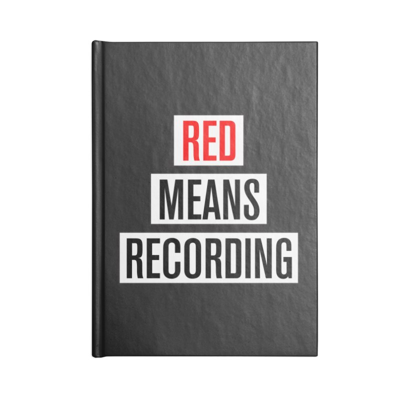WOW BIG FONT Accessories Lined Journal Notebook by Red Means Recording