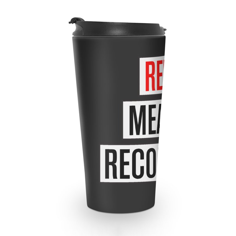 WOW BIG FONT Accessories Travel Mug by Red Means Recording
