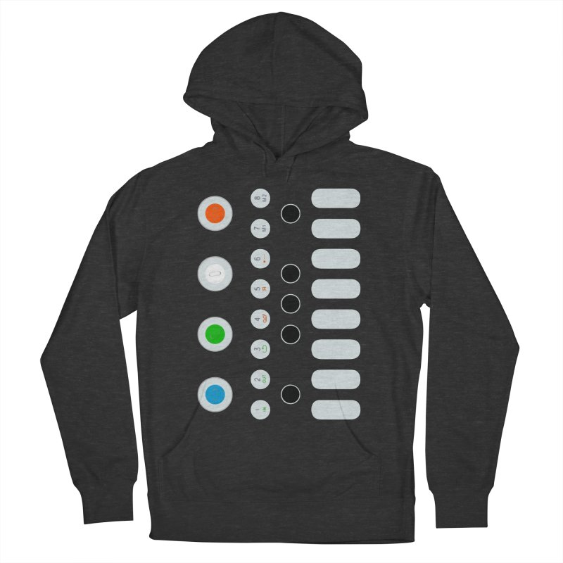 Big Smol Synth Men's French Terry Pullover Hoody by Red Means Recording