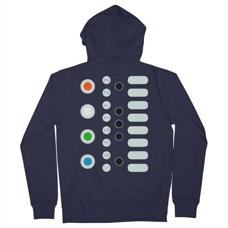 Big Smol Synth Men's French Terry Zip-Up Hoody by Red Means Recording