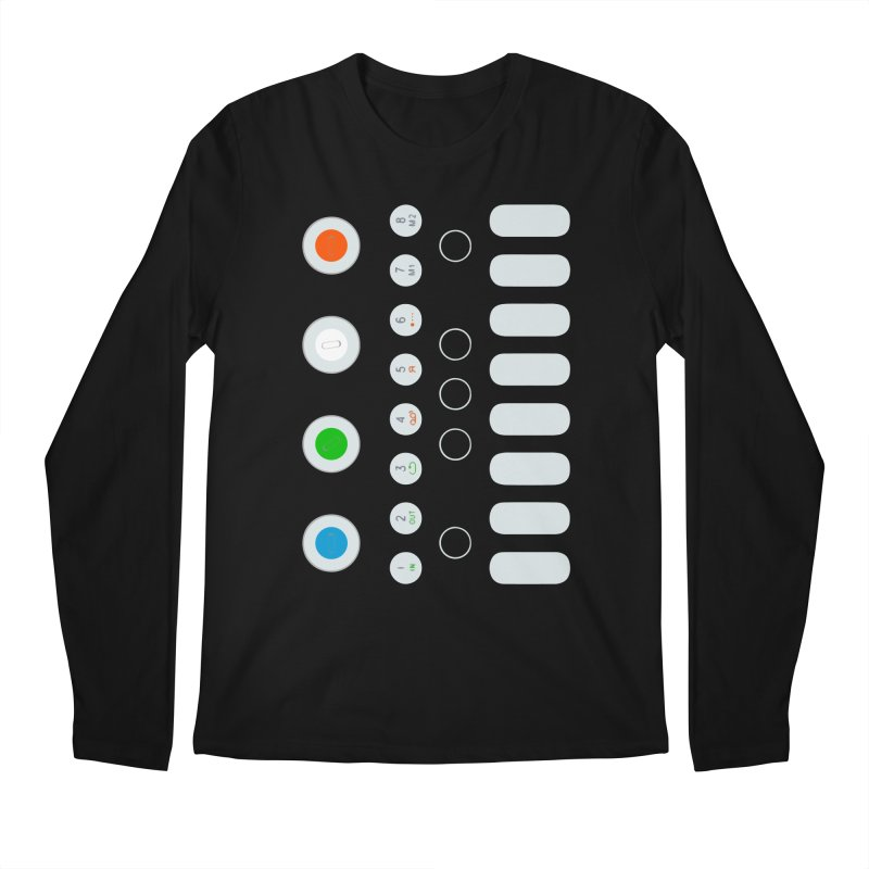 Big Smol Synth Men's Regular Longsleeve T-Shirt by Red Means Recording