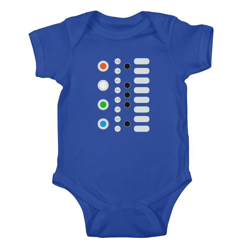 Big Smol Synth Kids Baby Bodysuit by Red Means Recording