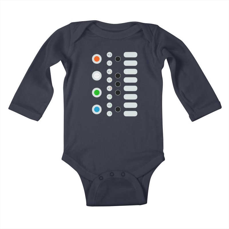 Big Smol Synth Kids Baby Longsleeve Bodysuit by Red Means Recording