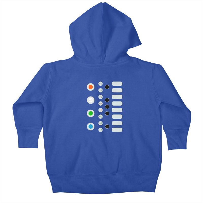 Big Smol Synth Kids Baby Zip-Up Hoody by Red Means Recording