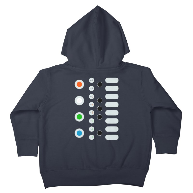 Big Smol Synth Kids Toddler Zip-Up Hoody by Red Means Recording