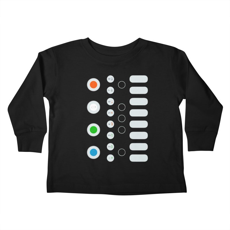 Big Smol Synth Kids Toddler Longsleeve T-Shirt by Red Means Recording