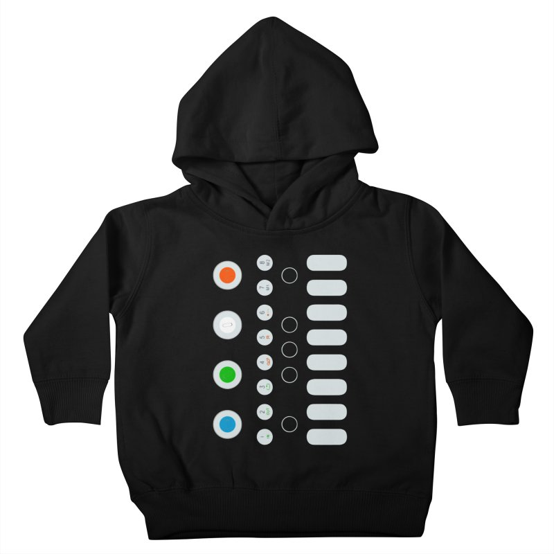 Big Smol Synth Kids Toddler Pullover Hoody by Red Means Recording