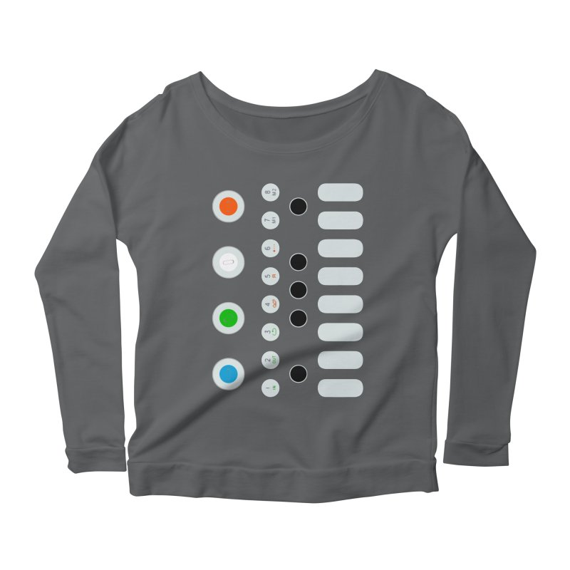 Big Smol Synth Women's Longsleeve T-Shirt by Red Means Recording