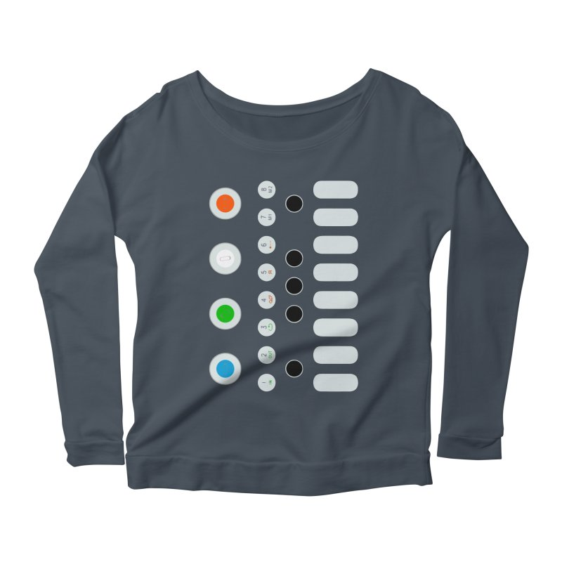 Big Smol Synth Women's Scoop Neck Longsleeve T-Shirt by Red Means Recording