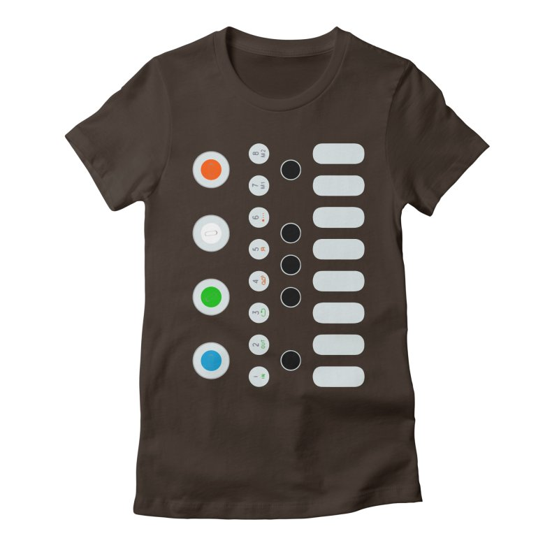 Big Smol Synth Women's Fitted T-Shirt by Red Means Recording