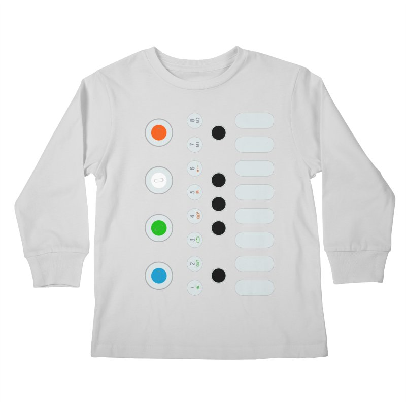 Big Smol Synth Kids Longsleeve T-Shirt by Red Means Recording