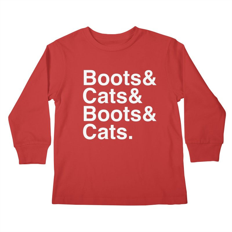 Are We Cool Yet? Kids Longsleeve T-Shirt by Red Means Recording
