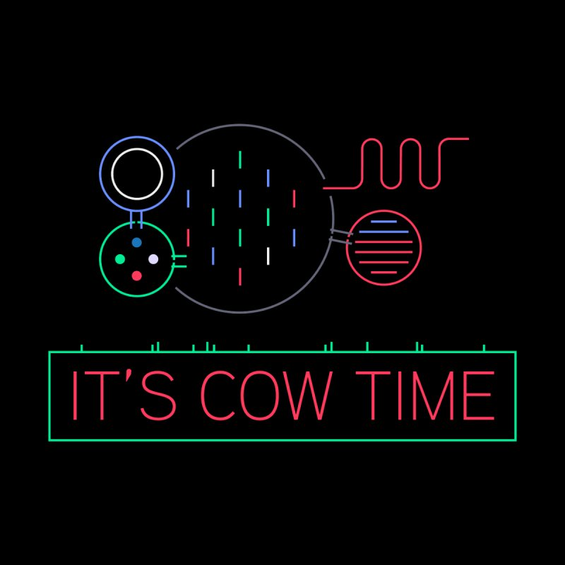 COW TIME Men's Longsleeve T-Shirt by Red Means Recording