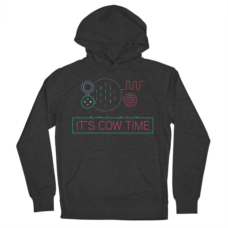 COW TIME Men's French Terry Pullover Hoody by Red Means Recording