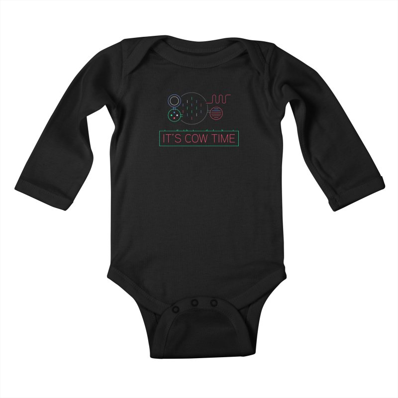 COW TIME Kids Baby Longsleeve Bodysuit by Red Means Recording