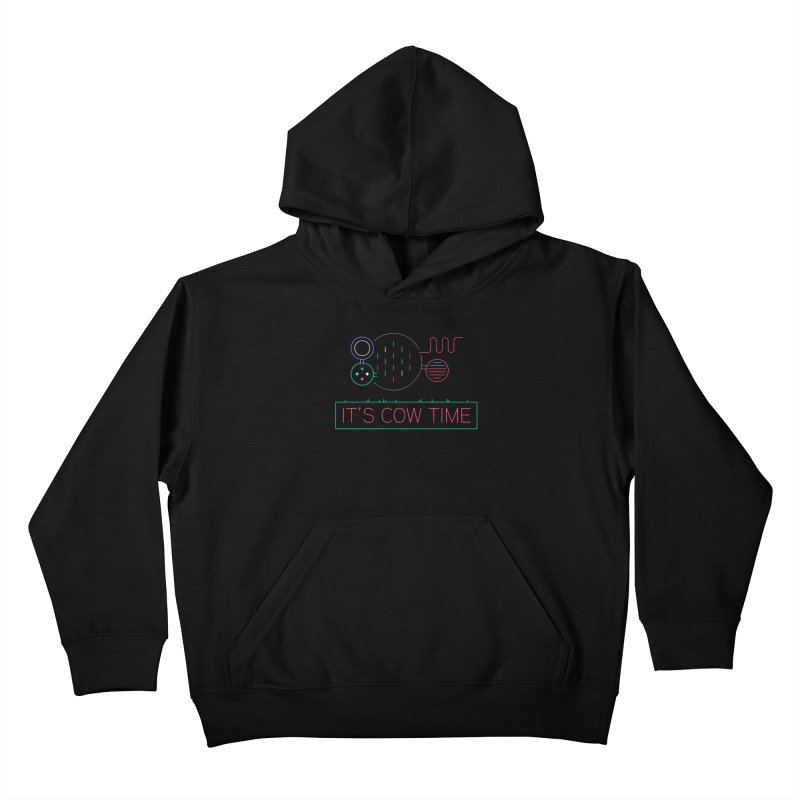 COW TIME Kids Pullover Hoody by Red Means Recording