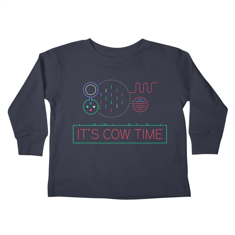 COW TIME Kids Toddler Longsleeve T-Shirt by Red Means Recording
