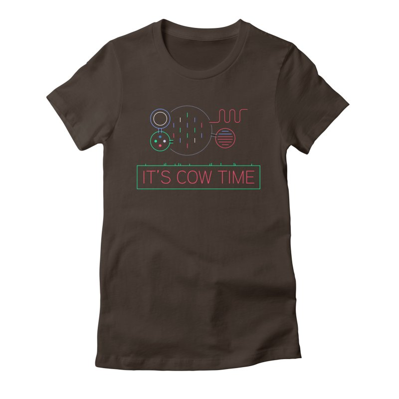 COW TIME Women's Fitted T-Shirt by Red Means Recording