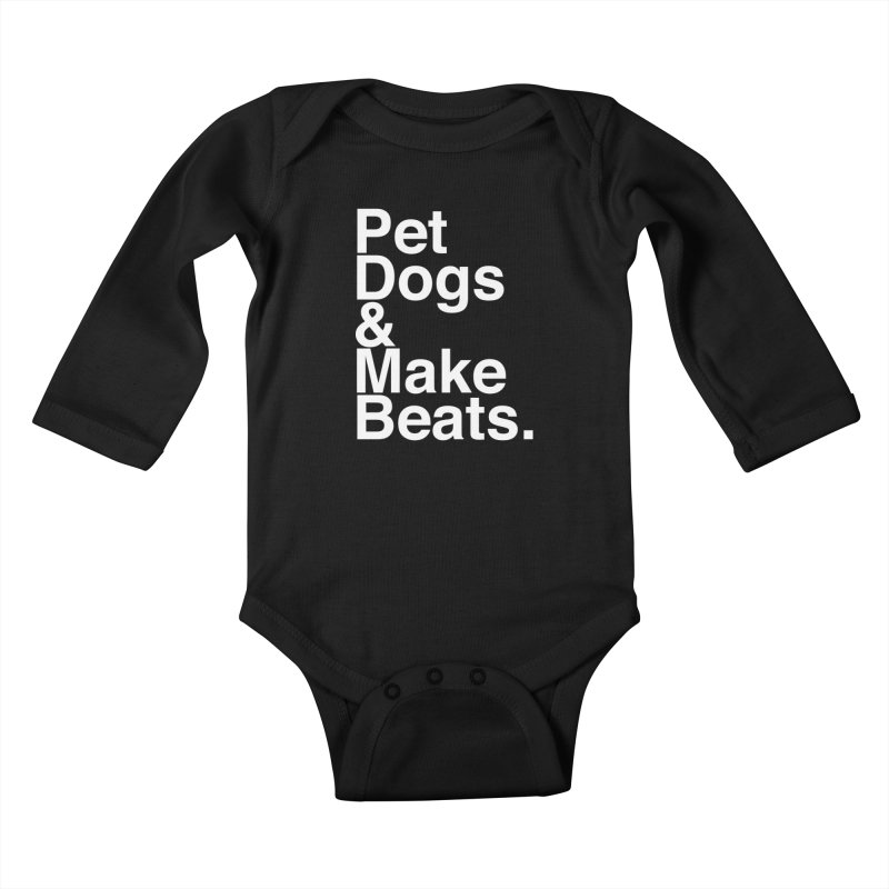 Life is Simple Kids Baby Longsleeve Bodysuit by Red Means Recording