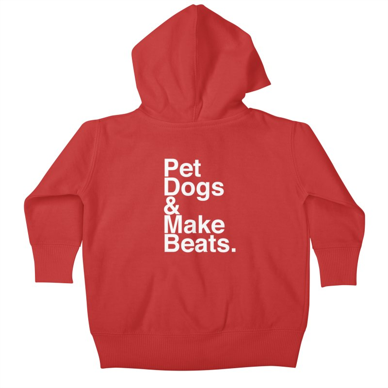 Life is Simple Kids Baby Zip-Up Hoody by Red Means Recording