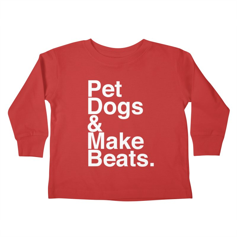 Life is Simple Kids Toddler Longsleeve T-Shirt by Red Means Recording