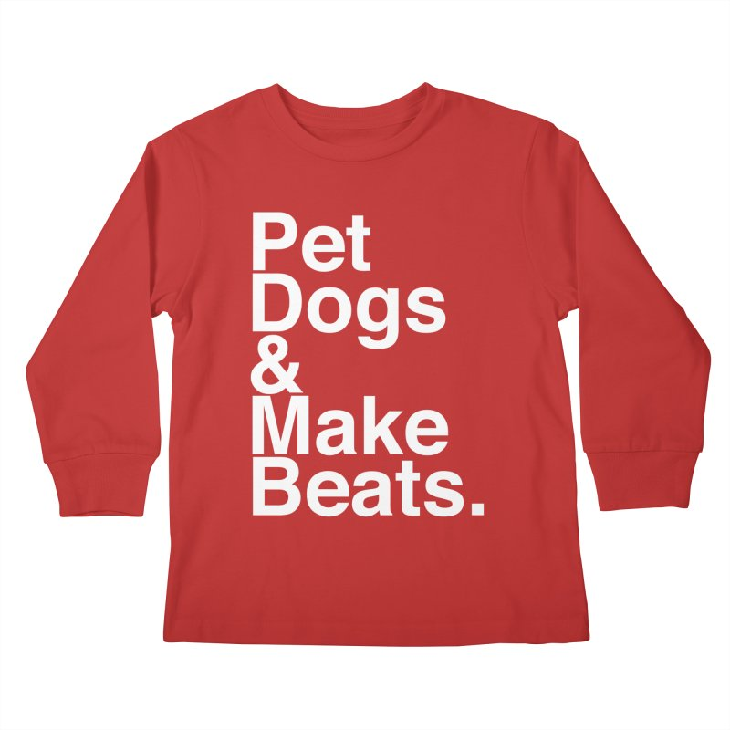 Life is Simple Kids Longsleeve T-Shirt by Red Means Recording
