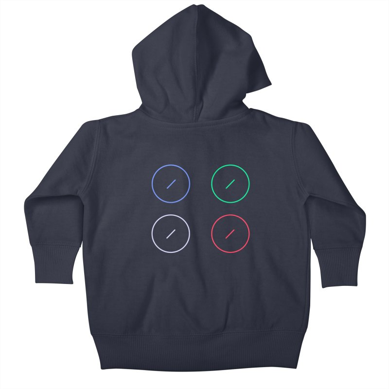 Just Knob Things Kids Baby Zip-Up Hoody by Red Means Recording