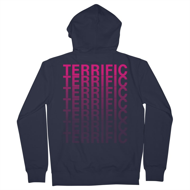 TERRIFIC Men's French Terry Zip-Up Hoody by Red Means Recording