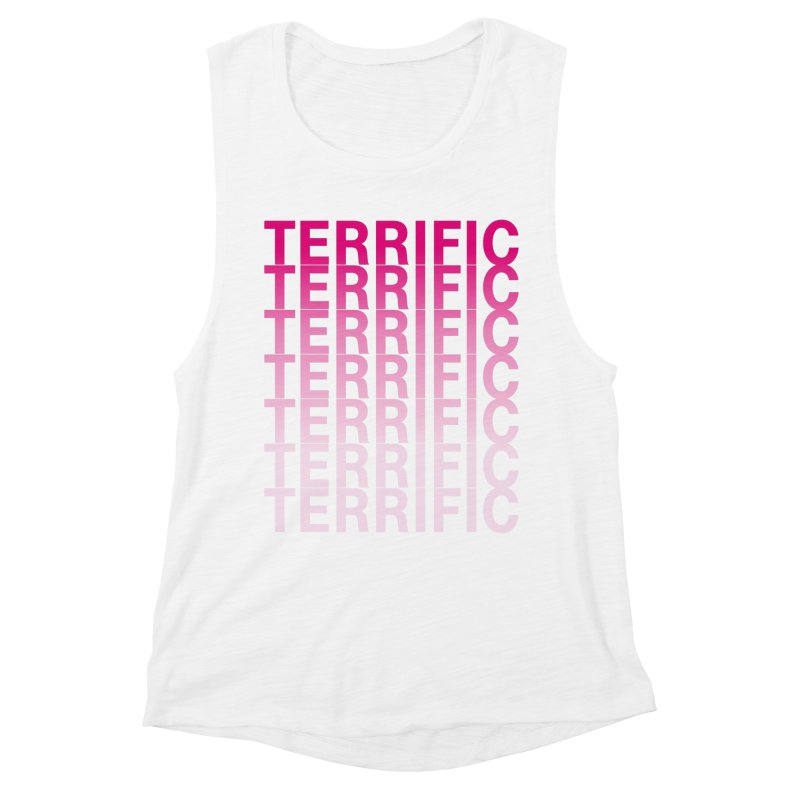 TERRIFIC Women's Muscle Tank by Red Means Recording
