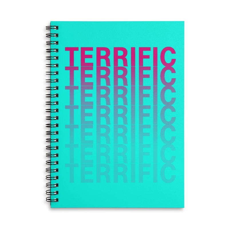 TERRIFIC Accessories Lined Spiral Notebook by Red Means Recording