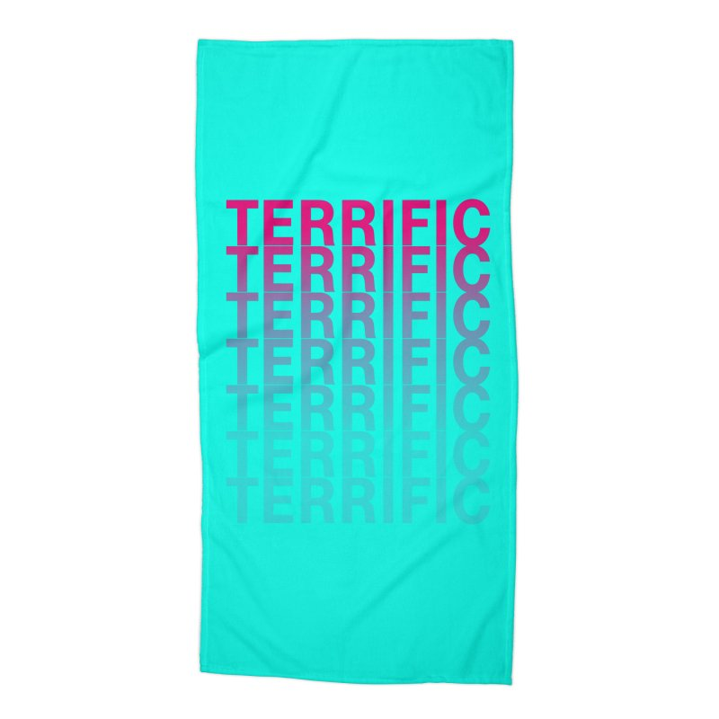 TERRIFIC Accessories Beach Towel by Red Means Recording