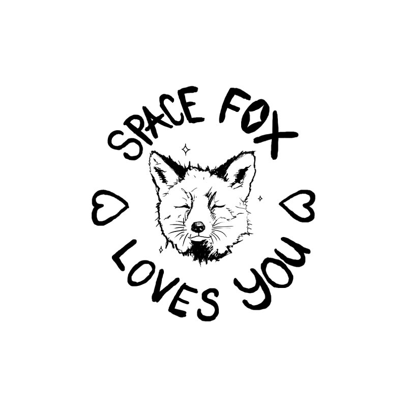 Space Fox Loves You (Dark) Women's T-Shirt by Red Means Recording