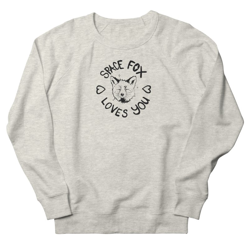 Space Fox Loves You (Dark) Women's Sweatshirt by Red Means Recording
